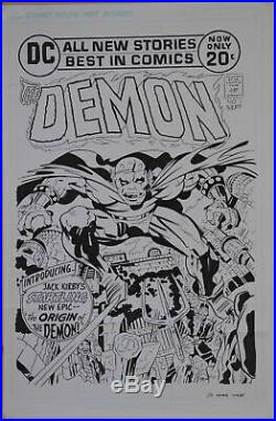 Original art, Jack Kirby DEMON #1 Cover Recreation, 11x17, more art in store