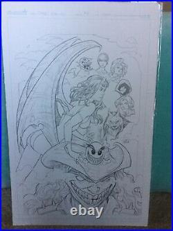 Original art cover For Chaos #2 Comic Book By Dynamite Nei Ruffino