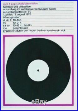 Original vintage poster JAZZ & POPP RECORD COVERS EXPO 1978