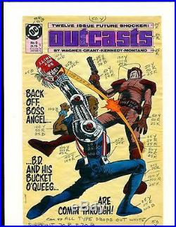 Outcasts 9 Cover Color Guide-original Art-1 Of A Kind-kennedy-grant-wagner