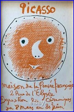 Pablo Picasso Cover for Ceramics Catalog Original Mourlot Lithograph 1957