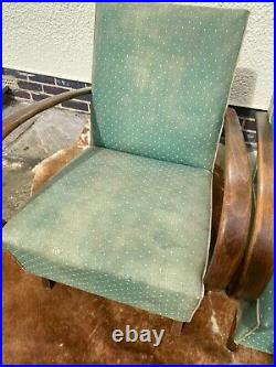 Pair Of Original Halabala Art Deco Armchairs Cheaper For Re-covering Apr21-7