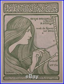 Paul Berthon Original woodcut cover 1897 L'image Art Nouveau Symbolism