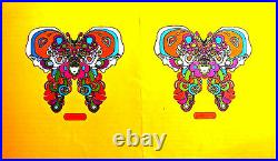 Peter Max Book Cover Psychedelic Face Very Large Original 60's 70's