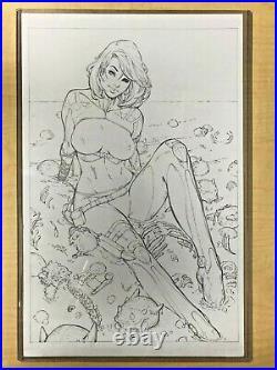 Prey for the Sinner #1 Mike Debalfo Naughty Variant ORIGINAL COVER ART