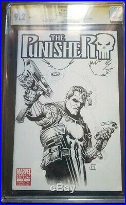 Punisher Original Art Sketch Cover Jeff Edwards Wolverine Batman Spiderman CGC
