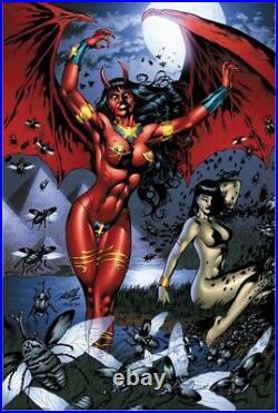 Purgatori #7 Original Cover Art By Al Rio