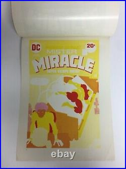 RARE! MISTER MIRACLE #17 Cover Art 1973 JACK KIRBY Original 7 Page Cover Proof
