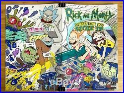 RICK AND MORTY SHIP Sketch Cover Original Art Marc Ellerby signed