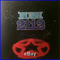 RUSH 2112 Cover Art Poster Hand Signed Geddy Lee withcoa
