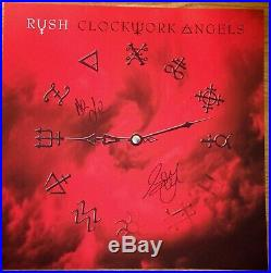 RUSH Clockwork Angels cover art print signed by Geddy Lee/ Alex Lifeson COA