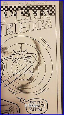 Rare Mike Allred Original cover art. Captain America #3 1/50 Variant