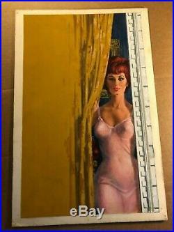 Rare Original Provocative Pulp Paperback Cover Illustration Art Painting'64
