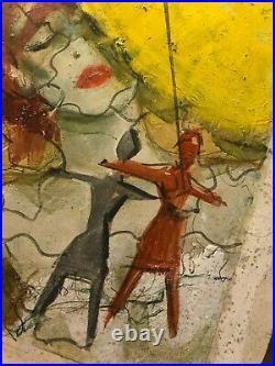 Rare Original Published Paperback Cover Illustration Art Painting Murder 60s