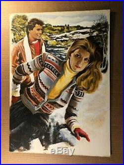Rare Original Published Romance Paperback Cover Illustration Art Painting 70/80s