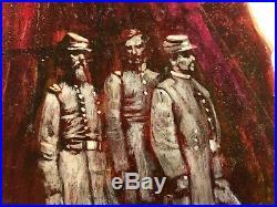 Rare Original Pulp Illustration Art Painting Paperback Cover 60s/70s Besieged
