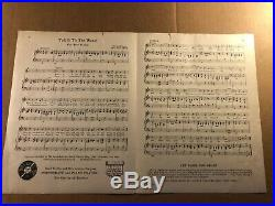Rare Original Signed Illustration Painting of Sheet Music Cover Anita Owen 1919