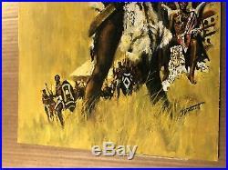 Rare Original Signed Pulp Paperback Cover Illustration Art African Carl Hantman