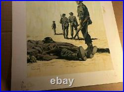 Rare Original Signed Pulp Paperback Cover Illustration Art Painting WWII Theme