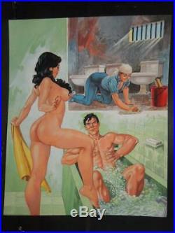 Relatos De Presidio # 46 Sexy Pin Up Girl Original Mexican Cover Art