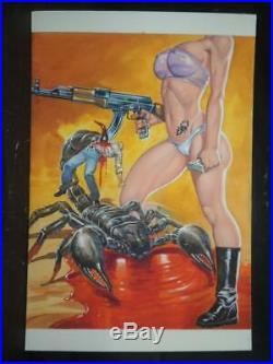 Relatos De Presidio # 867 Sexy Pin Up Girl Original Mex Cover Art By Bazaldua