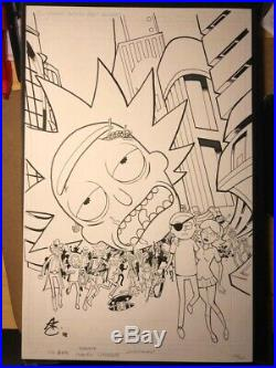 Rick And Morty 52 Original Comic Cover Art Galaxycon Variant Greg Kirkpatrick