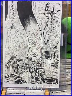 Rick and Morty Original Cover Art by Troy Nixey Issue 16b