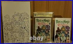 Rick and Morty Vindicators #1 Variant CBCS not CGC 9.8 & Original Cover Art