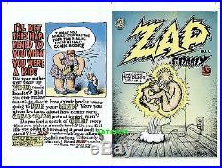 Robert Crumb Artwork Zap Comix #0 Original Comic Cover Proof Production Art Ug