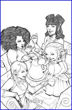 Roc Upchurch RAT QUEENS 5 Original Cover Art Bloody Tea Party Kurtis Wiebe Image