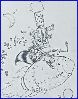 Rocket Raccoon #2 (2014) Original Cover Art by Skottie Young