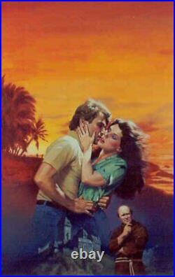 Romance Paperback Original Cover Art Painting Daniel Crouse Annie Stuart