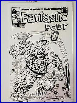 Ron Wilson Fantastic Four faux cover Original Art 11X17 Awesome! Signed