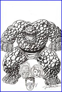 Ron Wilson Original Fantastic Four Art Custom Cover The Thing Invisible Woman