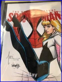 SFoSM 1 SpiderGwen Original Art Sketch Cover Jose VARESE & Billy Tucci