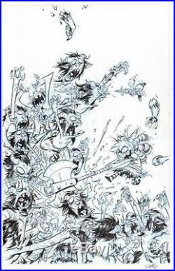 SKOTTIE YOUNG I Hate Fairyland #2 Cover original art KIETH TODD MCFARLANE sketch