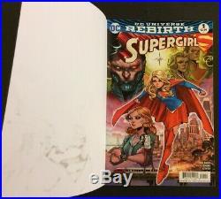 SUPERGIRL #1 Comic Book ORIGINAL ART COVER Scott Hanna COA Beautiful! DC 2016