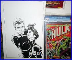 Sable 3 ORIGINAL COVER ART Bill Jaaska 1987 First Comics HAND DRAWN Signed B&W