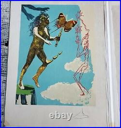 Salvador Dali Magic Butterfly Handsigned Numbered Lithograph Coa Original Cover