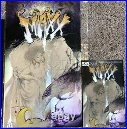 Sam Kieth The Maxx Original Art Cover Hulk Wolverine Marvel Batman 12x20 Painted
