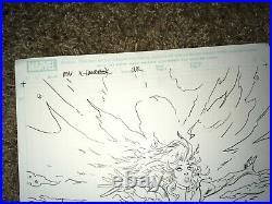 Scott Kolins Signed Original Cover Drawing Art X-Men Messiah Complex PHOENIX