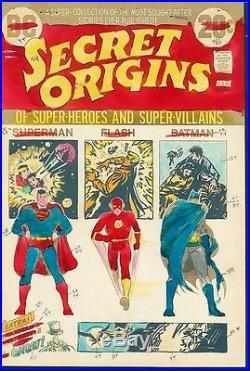 Secret Origins 1 COVER ART Superman Flash Batman Hand Painted Cardy Color Guide