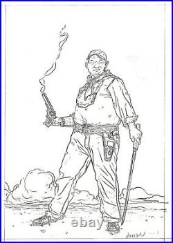Shaolin Cowboy Original Art by Geof Darrow  hard boiled frank miller dark horse