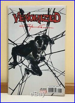 Signed Clayton Crain Venom 11 x 17 Cover Recreation Original Comic Art by Torres