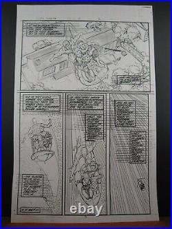 Silver Surfer #15, Pg #3 Original Marvel Production Art Pencil Stat Ron Lim