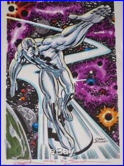 Silver Surfer Jack Kirby Sinnott Original Hand-painted Color Guide Art Signed