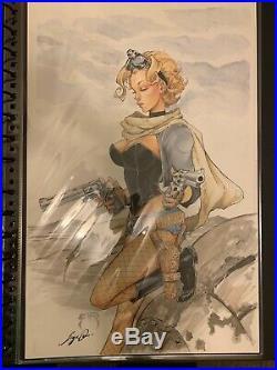 Siya Oum Lola xoxo #2 Original Published Art RARE 11 x 17 Aspin Cover C Benitez