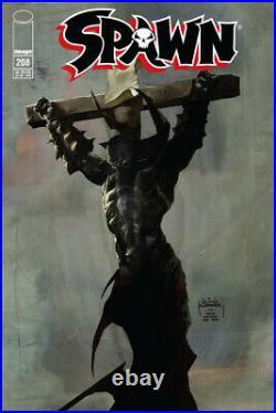 Spawn #208 unpublish original cover art page McFarlane Szymon Kudranski Capullo