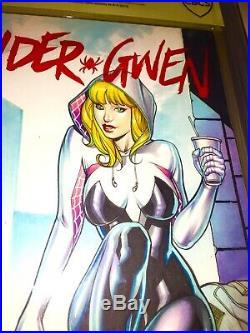 Spider-Gwen 1 Blank Original Art Artist Proof Cover Art Spider-Gwen Jose Varese
