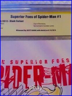 Spider-gwen 1 BLANK COVER ORIGINAL ART FULL COLOR SPIDER-GWEN SKETCH CBCS SS OA